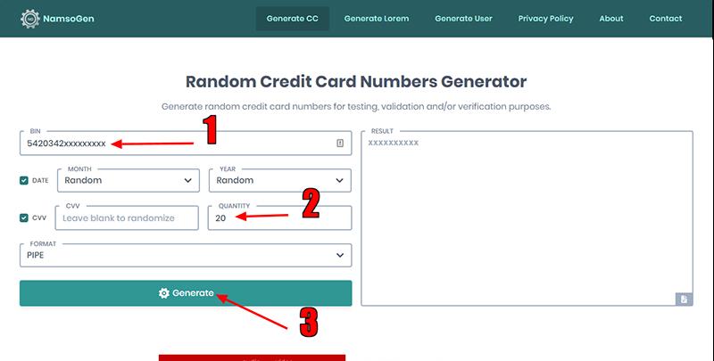 ساخت کارت اعتباری فیک