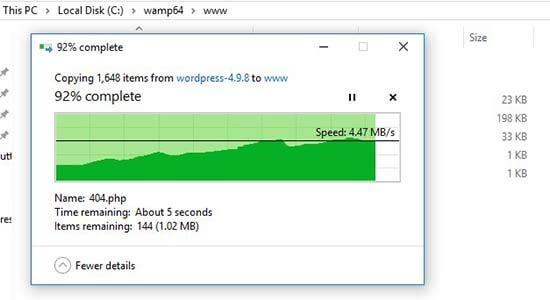 اکستراک کردن فایل فشرده وردپرس