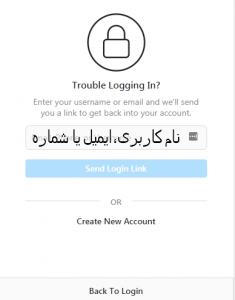 وارد کردن نام کاربری یا شماره یا ایمیل